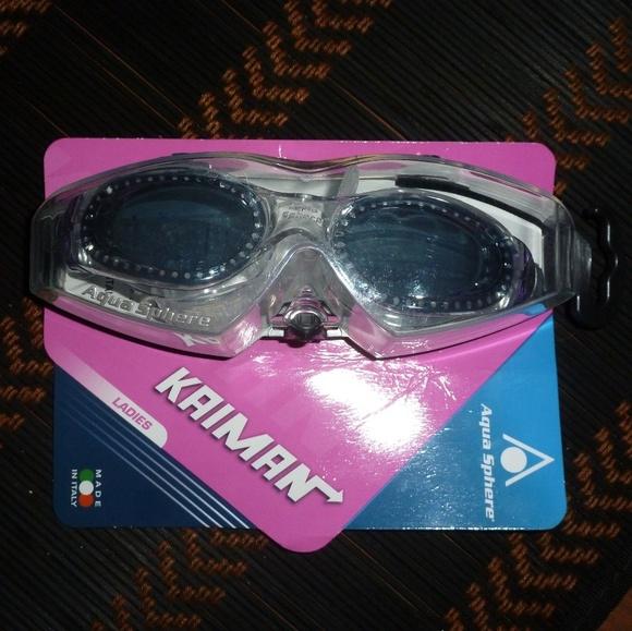AQUA SPHERE - KAIMAN Goggles - Swim Swimming NEW